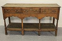 EARLY 19TH CENTURY SOUTH WALES OAK POT BOARD