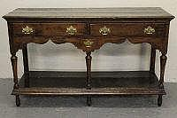 SMALL 18TH CENTURY WELSH OAK POTBOARD DRESSER