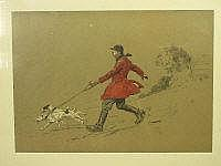 A GROUP OF VARIOUS HUNTING AND COACHING PRINTS,