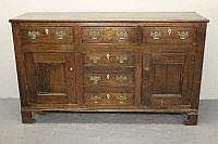 EARLY 19TH CENTURY NORTH WALES OAK DRESSER BASE,