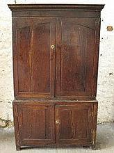 18TH CENTURY OAK PRESS CUPBOARD, now converted to