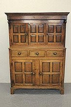 EARLY 19TH CENTURY WELSH OAK DEUDDARN, having