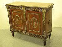 ITALIAN STYLE MAHOGANY AND EBONISED GILT METAL