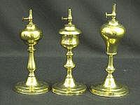 GROUP OF THREE SIMILAR 19TH CENTURY BRASS WHALE
