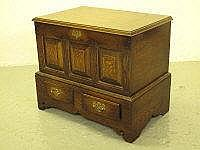 18TH CENTURY STYLE WELSH OAK COFFOR BACH, the