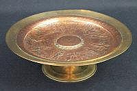 FRENCH BRONZE AND COPPER ELECTROTYPE TAZZA,