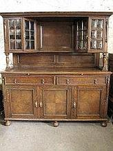 EARLY 20TH CENTURY OAK SIDEBOARD, having moulded