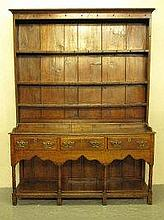LATE 18TH CENTURY WELSH OAK POTBOARD DRESSER,