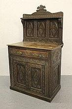 17TH CENTURY STYLE CARVED OAK CHIFFONIER, having