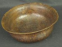 TURNED BURR ELM CIRCULAR BOWL, with everted rim