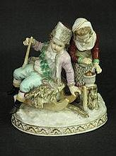 GERMAN PORCELAIN FIGURE GROUP, of a young couple
