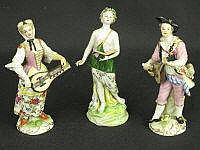PAIR OF CONTINENTAL PORCELAIN FIGURES OF