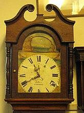 19TH CENTURY WELSH OAK LONGCASE CLOCK (LACKING