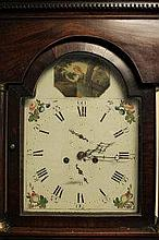 EARLY 19TH CENTURY MAHOGANY EIGHT DAY LONGCASE