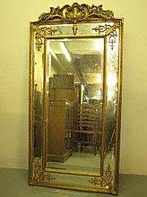 18TH CENTURY STYLE CARVED GILT WOOD FRAMED OVER