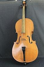 EARLY 20TH CENTURY ENGLISH CELLO, labelled