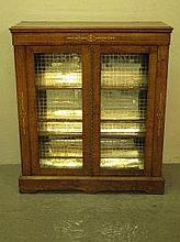 VICTORIAN INLAID WALNUT PIER CABINET, having