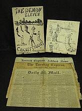 AN INTERESTING COLLECTION OF NEWSPAPERS AND