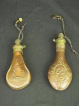 TWO COPPER AND BRASS SYKES PATENT REPOUSSE