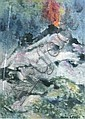 IRWIN CROWE (1908-2003) VOLCANO. Mixed media