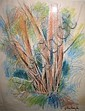 JOHN LUNGHI (1902-1982) TREES. Signed. Pastel