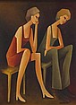 WILLIAM (BILL) COLEMAN (1922-1992) SISTERS Signed