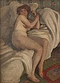 EMANUEL PHILLIPS FOX (1865-1915) RECLING NUDE