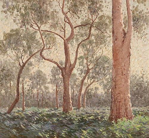 WILLIAM LISTER LISTER (1859-1943), TOWERING TREES