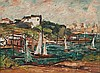 GEORGE FEATHER LAWRENCE (1901-1981) HARBOUR SCENE