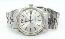 Rolex-Men's SS Datejust Rolex Prepetual Movement W/Chrome Dial *WORKING*