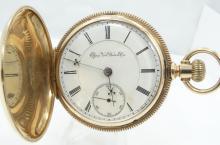 1891 SOLID 14K Yellow Gold B.W. Raymond Elgin National Watch Co. Pocket Watch *WORKING* Sz 18s (123 Grams)