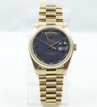 ROLEX-Men's SOLID 18K Yellow Gold Day/Date Presidential Rolex Model: 18038 *WORKING* (136.2 Grams)
