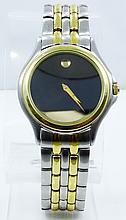 Men's Movado SS/14K Yellow Gold Finish 4 Jewel Watch *WORKING*