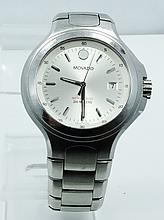 Men's Movado 800 Series SS Watch *WORKING* W/Date Display