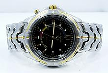 Seiko Kinetic Automatic Watch W/Selective Gold Finish Model:5M42-0809 *WORKING*