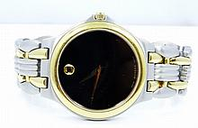 Men's Movado SS/14K Yellow Gold Finish 7 Jewel Watch *WORKING*