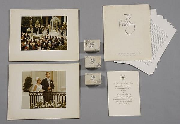 Tricia Nixon's White House wedding mementos