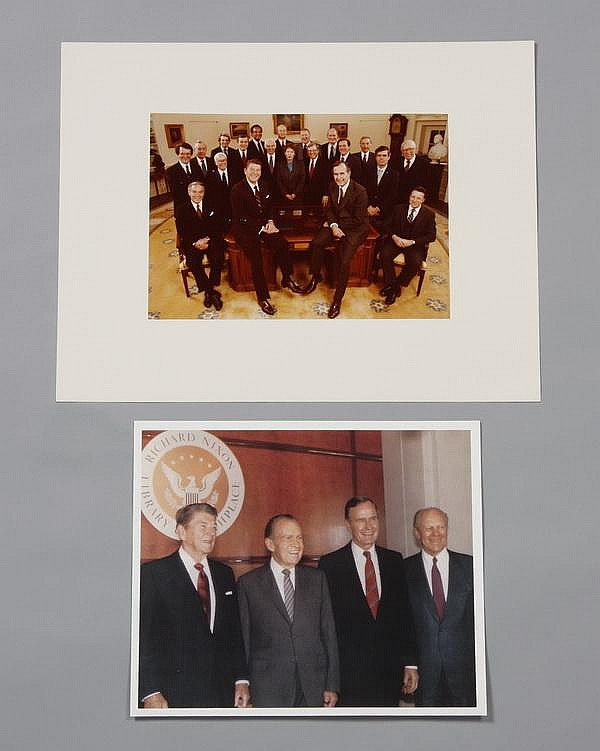 Two Presidential photographs