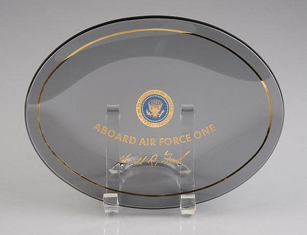 Air Force One glass dish