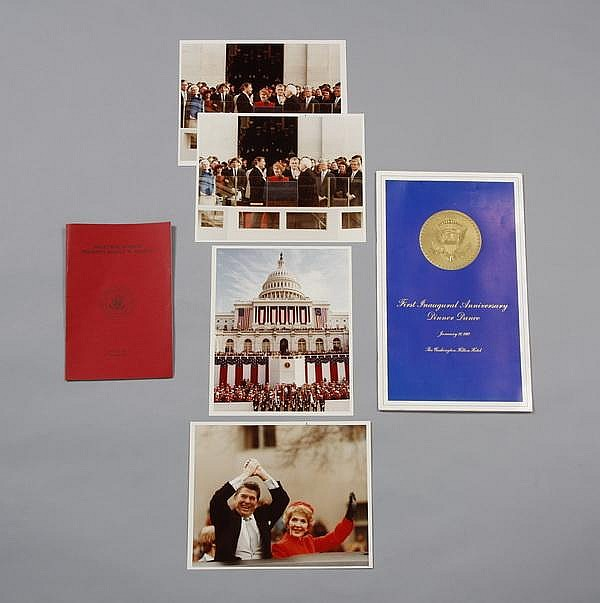 Reagan White House Inauguration memorabilia