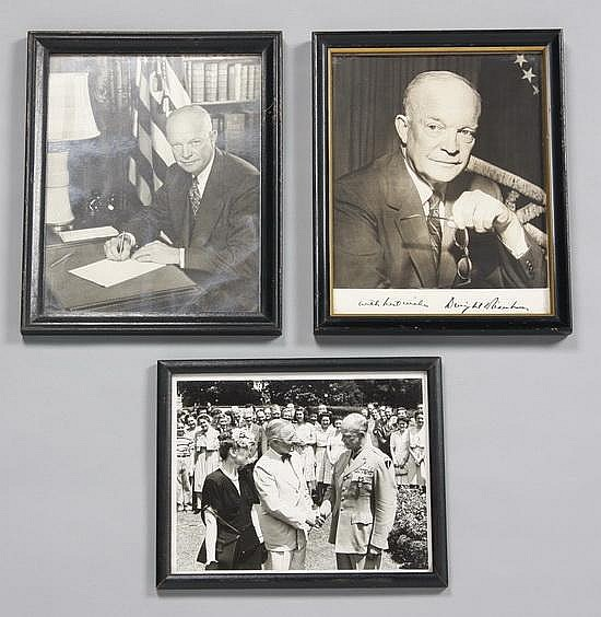Eisenhower White House photos, 1 signed