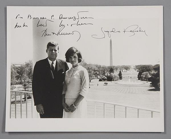 President and Mrs. Kennedy signed photo