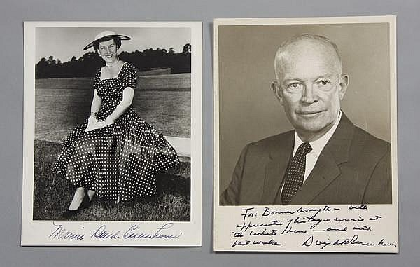 President and Mrs. Eisenhower photos, signed