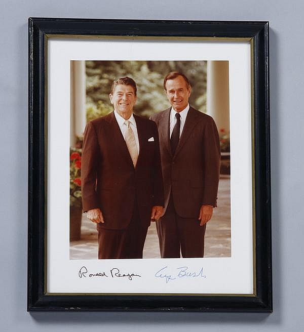 Autographed photo - President Reagan, VP Bush