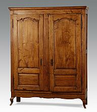 19th c. French Provincial fruitwood armoire