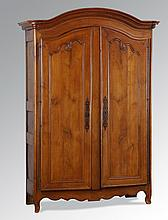 18th c. French carved chestnut armoire