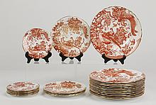 Partial set of Royal Crown Derby dinnerware