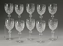(10) Waterford wine glasses, marked