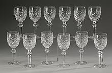 (12) Waterford wine glasses, marked