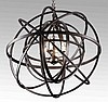 20th c. circular wrought iron chandelier